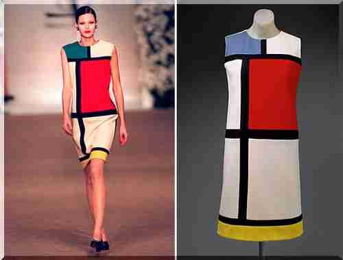 Натхненням для створення знакового сукні колекції осінь   зима 1965  послужила картина голландського художника П єта Мондріана (Piet Mondrian). df3b44e3b2b0d