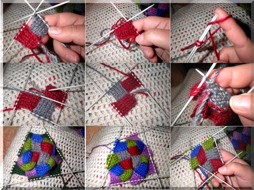 Po vyrovnání přechodu na pletení 7 čtverce vlevo 7kv. -vpravo. Pletené  ponožky enterlak o navrhovaném modelu. Horní mohou být zdobené háček. 255db26861