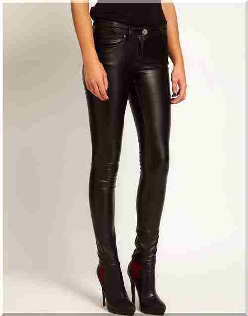 b58d6c5502f Купи Кожени панталони - купуват панталони онлайн магазин ще се запазят кожени  жените