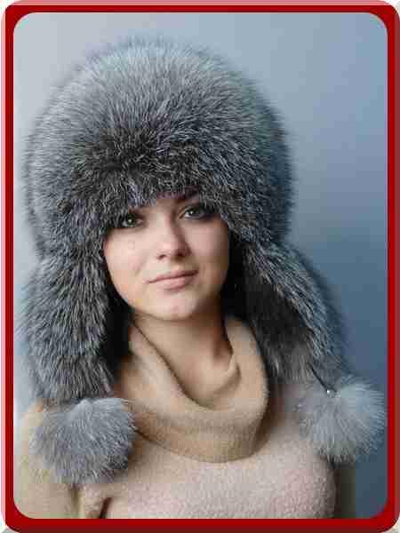 З натурального хутра чорнобурки норвезької. Для російських жінок хутряні шапки  жіночі оптом не просто прикраса  348722cae642b