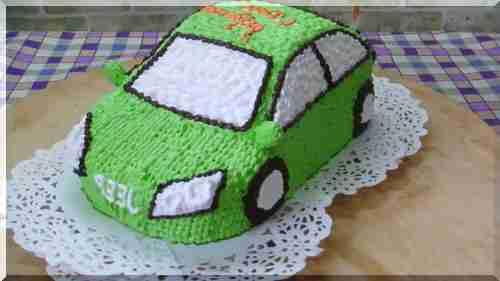Как приготовить торт машину