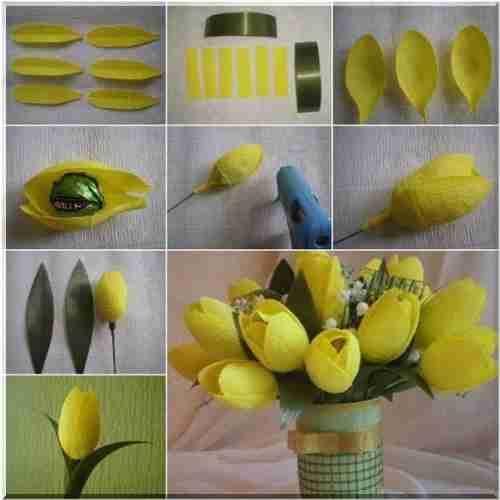 Тюльпаны из ткани своими руками для начинающих пошагово