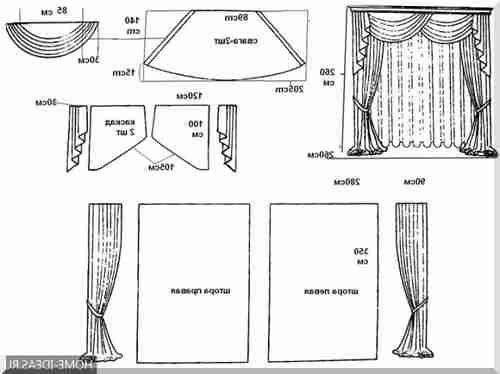 Сшить шторы из двух тканей разных цветов своими руками 91