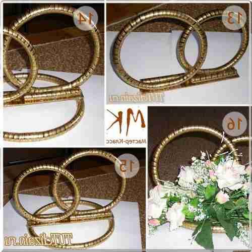 Как сделать кольца на машину своими руками на свадьбу 84