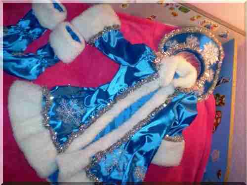 Костюм снегурочки для девочек своими руками