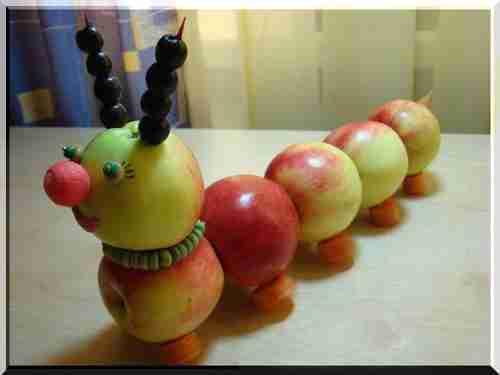Поделки к празднику осени в детском саду из овощей и фруктов