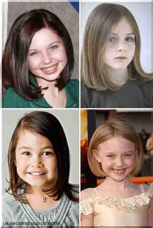 Fryzury Dla Dziewczyn Fotografia Modne Fryzury Dla Dzieci W