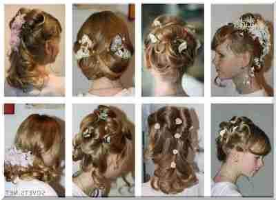 Причёска для девочки на длинные волосы своими руками в домашних условиях фото