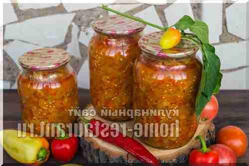 салат з баклажанів та перцю солодкого рецепти