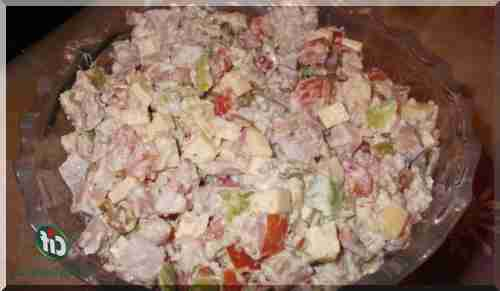 Салат с копчёной курицей и помидорами рецепт пошагово