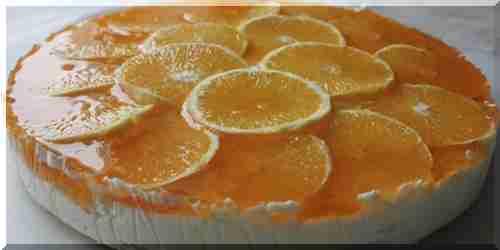 Торт с апельсинами и желе рецепт