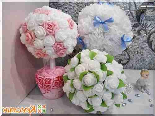 Цветы из салфеток своими руками для начинающих топиарий