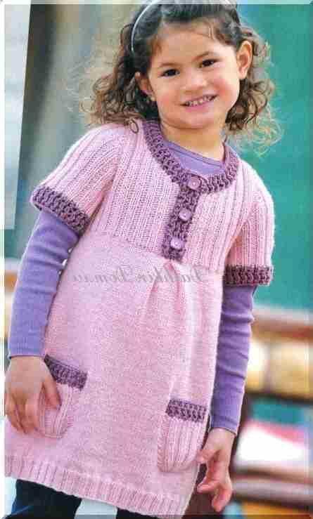 412993c5ec Dzianiny sukienki dla dziewczynek (13 modeli z opisem)